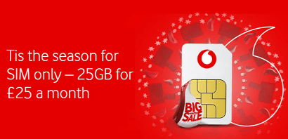 Vodafone Winter Sale SIM only deals