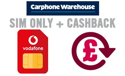 Vodafone SIM from Carphone Warehouse