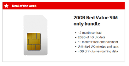 Vodafone SIM only offer