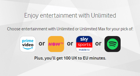 Vodafone Entertainment subscription
