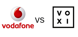 Vodafone and VOXI logos