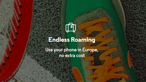 VOXI endless roaming banner