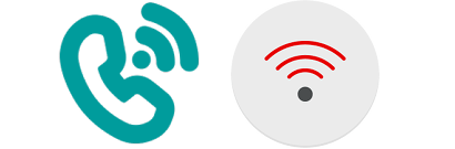 Vodafone and EE's branded WiFi calling symbols